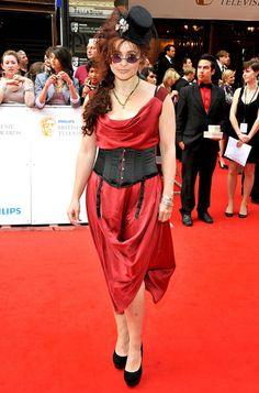 Helena Bonham Carter Red Carpet Fashions  #RiskyCeleb