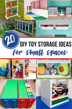 Are toys cluttering up your living room? Check out these genius DIY toy storage ideas! They're perfect for organizing toys in small spaces, and you can make them yourself! These are perfect beginner woodworking projects too!