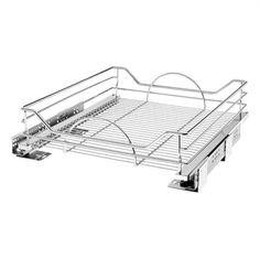 Rev-A-Shelf 20.31-in W x 21.75-in D x 6-in H 1-Tier Metal Pull Out Cabinet Basket