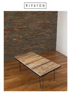 Créez vos tables design avec nos hairpin legs ripaton.   1. Choisissez vos pieds  2. Choisissez votre planche en bois 3. Fixez le tout !   Découvre des articles DIY faciles pour réaliser votre meuble sur www.ripaton.fr
