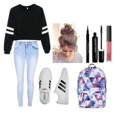 """""""Perfect school outfit for high schoolers to college students!!!"""" by putterfly on Polyvore featuring Glamorous, adidas, Givenchy, Marc Jacobs, NARS Cosmetics and Accessorize"""