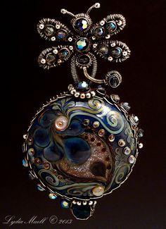 Joyful Journey Lampwork Bead Pendant