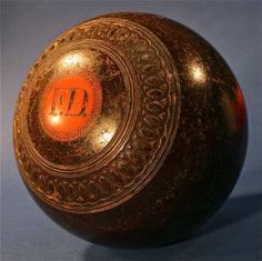 Antique Wood & Bakelite Lawn Bowling Game Bocce Ball