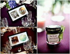 Favors and table numbers