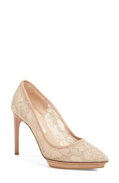 DIANE VON FURSTENBERG 'Madrid' Lace Pump (Women). #dianevonfurstenberg #shoes #pumps