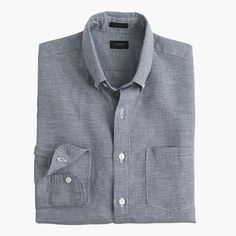 This warm-weather staple's laid-back, airy vibe is thanks to its breathable linen from Baird McNutt, the finest linen mill in Ireland, founded over a century ago. Honestly, though, we won't blame you if you forget all about the provenance-related details once you feel this shirt's incredible softness. <a href='https://hello.jcrew.com/2016-04-april/in-the-field-baird-mcnutt'><u>Learn more about Baird McNutt.</u></a> <ul><li>Slim fit, cut more narrowly through the body and…