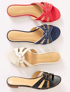 5b7b49965058 Keri Vachetta Slip-On Sandals