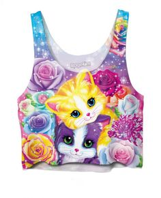 That's right, you heard me correctly. Lisa Frank, beloved provider of elementary school coolness, is now wearable. I can sport my love of unicorn...