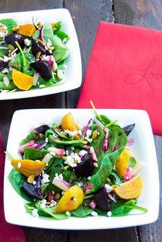 My Heart Skips a Beet Salad: Citrus Dressing on Beet and Goat Cheese Salad - Perfect salad to start a romantic dinner!