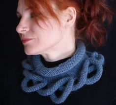 PDF Hand Knitting Cowl pattern for 'Loopy Bottom Cowl' in chunky yarn-- written…