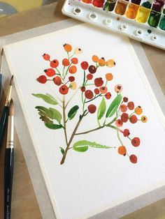 Learn how to paint a new flower every day with help from acclaimed watercolor artist Yao Cheng Known for her flowing elegant style Yao shares her technique for capturing. Watercolor Cards, Watercolor Paintings, Watercolors, Watercolor Artists, Plants Watercolor, Watercolor Portraits, Watercolor Landscape, Abstract Paintings, How To Paint Watercolor