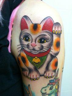 Digital Ash Tumblr Lucky Cat Tattoo