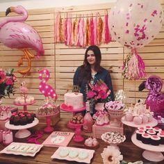 Flamingo Birthday Party Idea-Festa De Flamingos — The Iced Sugar Cookie 25th Birthday Parties, 21st Birthday Decorations, Luau Birthday, Pink Flamingo Party, Flamingo Birthday, Rainbow Dash Party, Birthday Fashion, Festa Party, Sleepover Party