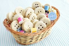 "Button Sandwiches - This would be so fun for a ""Cute as a button"" baby shower."