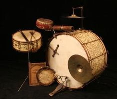 Vintage drum kit from the 1920s.