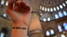 be here now travel tattoo