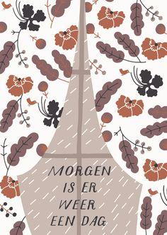 Morgen is er weer een dag. Postkaart ZintenZ/Claire van Heukelom