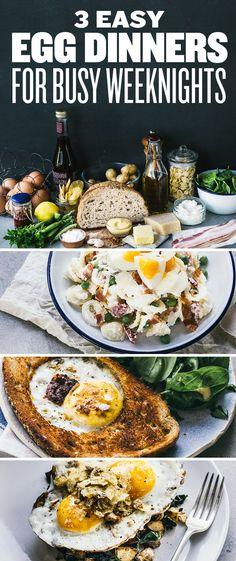3 Cheap Easy Egg Dinners