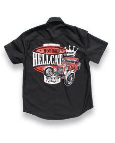 Hotrod Hellcat Herren SPEEDSKING Hemd.Oldschool,Tattoo,Biker,Custom Style