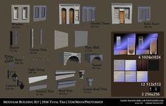 Cassidy Aquilino-Berg {Game Artist}: Process for Modular Building Kit