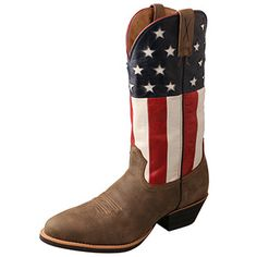 Twisted X® Men's R Toe Western Boots - Bomber / American Flag