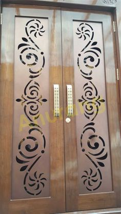 House Main Gates Design, Front Gate Design, Double Door Design, Door Gate Design, Wooden Door Design, House Design, Drawing Room Interior Design, Gate Designs Modern, Staircase Railing Design