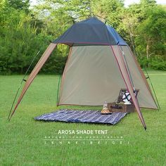 Outdoor Triangular Design Easy-Up Tent 4 Persons 3 Season Sunshade Shelter Lightweight Beach Canopy Tent, Beach Shade Tent, Canopy Outdoor, Shade Canopy, Portable Shade, Portable Tent, Camping Gazebo, Outdoor Camping, Beach Camping