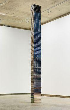 Things Organized Neatly: Fiona Banner, 97 Jane's All the. Art Totem, Book Installation, Art Installations, Fiona Banner, Things Organized Neatly, Book Sculpture, Art Object, Art Plastique, Paper Art