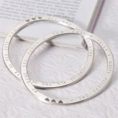 Sterling Silver Personalised Circle of Life Bangle  http://www.treather.com/product/sterling-silver-personalised-circle-of-life-bangle