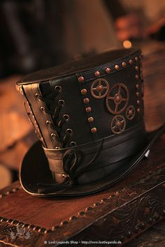 Gentleman Top Hat Steampunk cylinder   http://www.steampunk.de/p11578_gentleman_top_hat_steampunk_zylinder_.html#