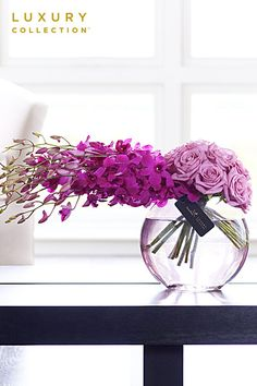 Rose and Orchid Vase