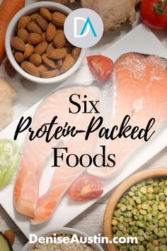 Healthy protein choices are important to understand especially as we age. Whenever our muscles, bone, skin and tissue need to rebuild or repair, protein is what does it. High Protein Foods List, Ideal Protein, High Protein Recipes, Healthy Protein, Healthy Snacks, Healthy Eating, Healthy Recipes, What Has Protein, Protein Nutrition