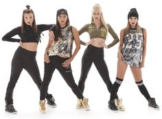 Hip hop dance costumes. Harem pants, leggings, shorts, long sequin jersey, loose edgy sequin tank, crop tops. Girly or urban- find your hip hop costume. SWAG
