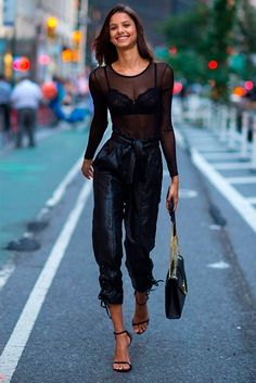 You don't need to be a super model to be able to wear Mesh top outfits, we've rounded up 40 Stylish Black Mesh Top Outfits Ideas for you to copy whenever you want. Black Mesh Top, is on… Club Outfits For Women, Sexy Outfits, Stylish Outfits, Fashion Outfits, Clothes For Women, Womens Fashion, Fashion Fashion, Fashion Tips, Female Fashion