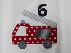 Feuerwehr Applikation fire truck Applique Templates, Applique Patterns, Applique Designs, Sewing Patterns Free, Baby Patterns, Baby Sewing Projects, Sewing Projects For Beginners, Sewing For Kids, Card Table Playhouse