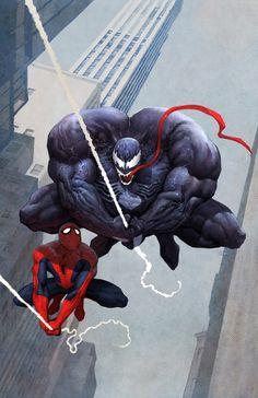 Venom and Spiderman - Marvel Comics - Refrigerator Magnet: 2 in. Venom Spiderman, Marvel Venom, Spiderman Art, Amazing Spiderman, Comic Book Characters, Comic Character, Comic Books Art, Comic Art, Marvel Comic Universe