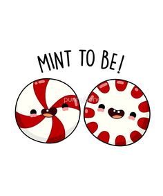 'We're Mint To Be Christmas Food Pun' by punnybone – Best Anımals Food