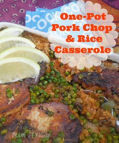 One-Pot Pork Chop and Rice Casserole ~ All in one Dinner with tender, juicy Pork Chops #OnePotDish #CompleteMeal #PorkChops