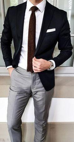 Blazer Outfits Men, Mens Fashion Blazer, Stylish Mens Outfits, Suit Fashion, Style Fashion, Blazer Suit, Fashion Design, Fashion Tips, Fashion Outfits