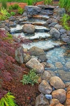 Backyard Waterfall landscaping idea.