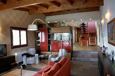 Intra Arquitectos: kolonyal tarz tarz Oturma Odası Architects