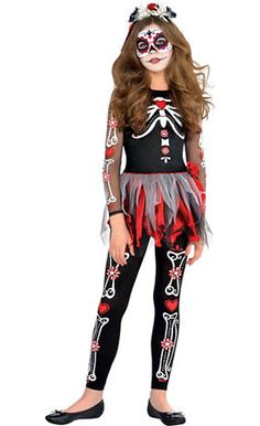 Day of the Dead Costumes for Women, Men & Kids - Sugar Skull Masks - Party City
