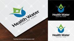 Health Water Logo Template