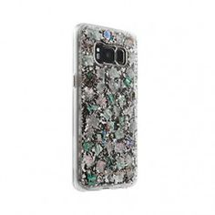 Enjoy the subtle iridescence of this Case-Mate Samsung Galaxy S8 case, featuring genuine mother of pearl delightfully mixed with sterling silver elements and encased in a clear resin.
