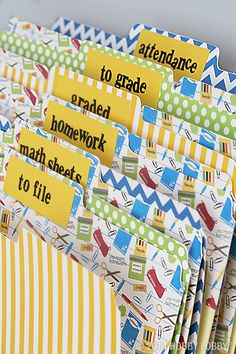 Dress up your plain Jane classroom by papering everything in sight - right down to the not-so-basic anymore file folders!