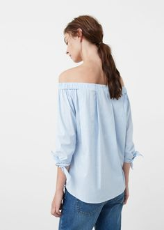 Off shoulder blouse | MANGO