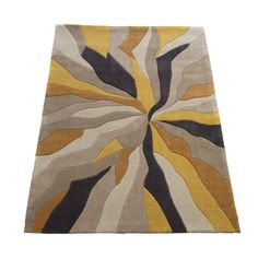 House Additions Ciampa Hand-Tufted Grey / Yellow Area Rug