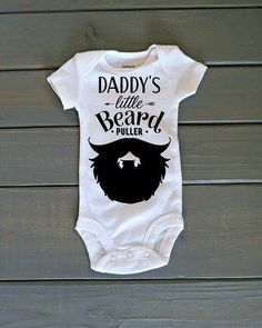 Baby Shower Gift Baby Clothing with Embroidery I Love My Bearded Daddy Outfit Funny Bodysuit 1st Birthday Clothes First Baby/'s Outfit