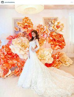 Big flowers wedding