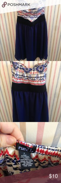 Rue 21 strapless dress Rue 21 strapless dress bought it for a party ended up not wearing it so never worn feel free to make an offer Rue 21 Dresses Strapless
